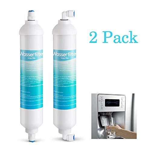 2er Kühlschrankfilter Wasserfilter für Kühlschrank Samsung side by side DA29-10105C,DA29-10105E,DA29-10105J, WSF100, WAF100 usw.Filter Aktivkohlefilter Ersatz extern mit 4x 1/4