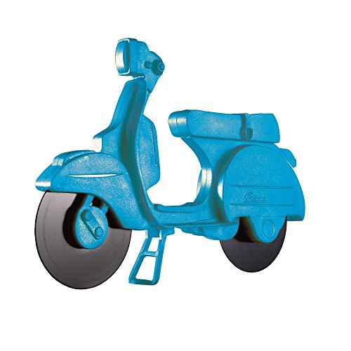 Eddingtons blau Lambretta Scooter Pizzaschneider