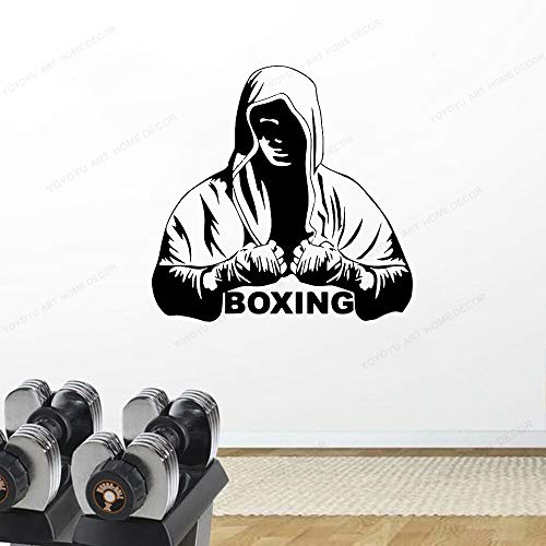 Fashion Boxing Sports Fighter Tabard Domineering Boxer Etiqueta de la pared Calcomanía de vinilo Gym boy bedroom Decoración del hogar Extraíble Wall Art Murals poster