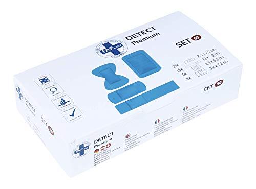 HierBeiDir Pflaster-Set Detect, extra flexibel & dehnbar, atmungsaktiv, hautfreundlich, hypoallergen, 50 Stück, für Gelenk, Kuppe, Pflaster & Strips