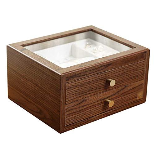 Adesign Jewelry Box Organizer para Mujeres Reloj de Almacenamiento 2 Capas Organizador de joyería Espacio de Almacenamiento Diferente Regalo para mamá Novia (Color : B)