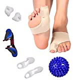 Bunion Corrector Splint Cushions Orthopedic Toe Separator Support Splint Turf Brace Spacer Straightener Protector Socks Hammertoe Relief Pain Treatment Elastic Cushion Hammer Toe Aid Alignment Insole