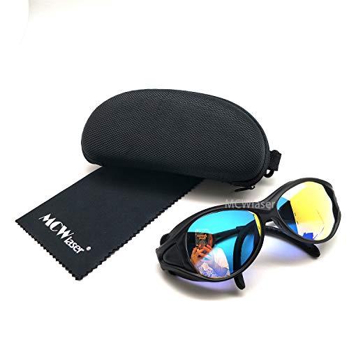 MCWlaser CO2 Láser de seguridad gafas de protección gafas 10600nm 10.6um reflectante tipo CO2 láser gafas para CO2 grabado láser de corte corte instrumento de tratamiento de belleza EP-25