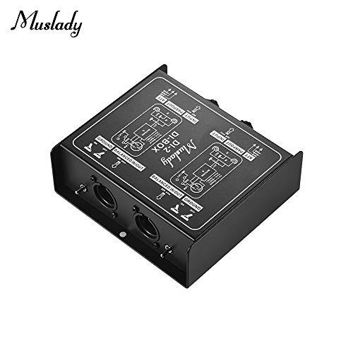 Muslady Dual-Channel Pasivo DI-Box Caja de Audio de Inyecci