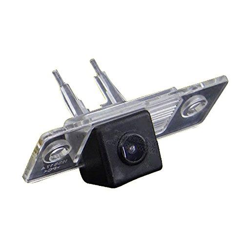 Navinio Rückfahrkamera in Kennzeichenleuchte Einparkhilfe Fahrzeug-spezifische Kamera integriert in Nummernschild Licht für VW Skoda Fabia/Passat B5/Bora/Touareg/Tiguan/Santana Skoda Octavia II RS