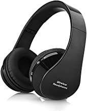 Bluetooth Headphones AIYIBEN Wireless Over-Ear Stereo Headsets Foldable Headphone with Microphone for PC/Smartphone/iPhone 6 6s 6plus 7 7 Plus ipad/Samsung/PSP/HTC/BlackBerry/Android(Black)