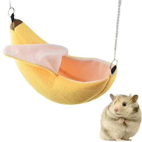 Auidy_6TXD Hamster Hängematte, Banane Design Kleintiere Baumwolle Käfig Schlaf Nest für Welpe Ratte Frettchen Kaninchen Frettchen