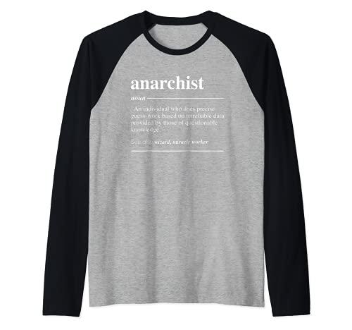 Definición anarquista Funny Sustantivo Camiseta Manga Raglan