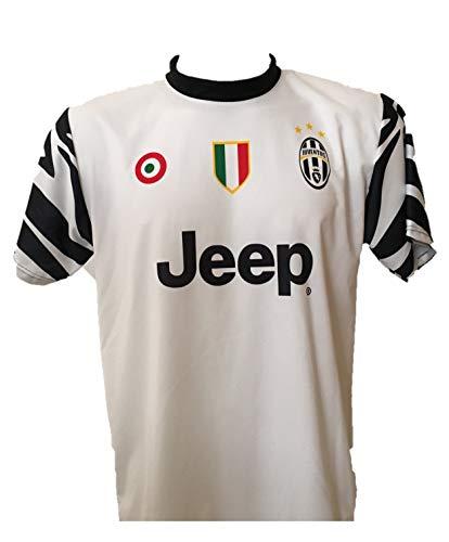 DND DI D'ANDOLFO CIRO Fußballtrikot Juventus Away Zebra neutral ohne Druck auf der Rückseite zugelassene Nachbildung 2016-2017 Größen für Kinder (4 Jahre)
