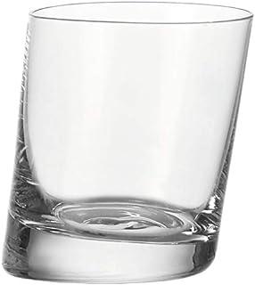Leonardo Pisa Trink-Glas, Trink-Becher aus Glas im modernen Stil, spülmaschinengeeignete Tumbler-Gläser, 6er Set, 340 ml, 063037