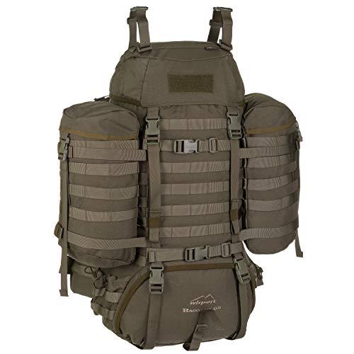 Wisport großer Backpacker Rucksack Damen & Herren + inkl. E-Book   Work Travel Rucksack für Mädchen Jungen   Wandertour   wandern   Traveller Backpack robust   Raccoon 65 Liter, RAL-7013