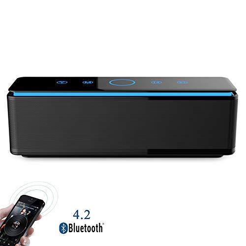 Speaker-EJOYDUTY 26 W True draadloze stereo Bluetooth-luidspreker, aanraakbediening, met 20 uur speelduur, ingebouwde microfoon, handsfree, voor outdoor, party, reizen