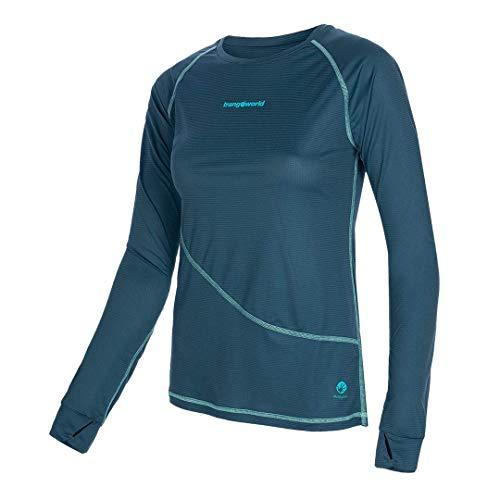 Trangoworld Seira Camiseta, Mujer, Azul Ceramica, S