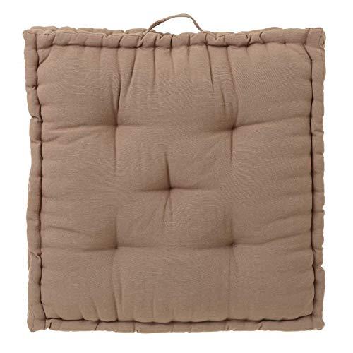 Cojín de Suelo Beige Moderno de algodón y poliéster de 60x60 cm - LOLAhome