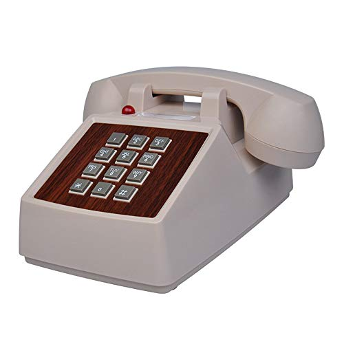 DERTHWER Landline Phones Farmhouse Style Telephone Rotary Dial Telephones Landline Desk Telephone,Corded Phone for Home and Decor,White Best Gift & Decor (Color : White, Size : 20x22x12cm)