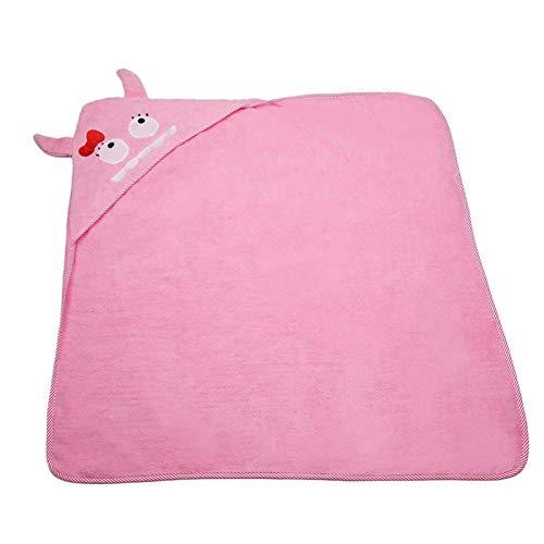 Toalla de baño para bebés, suave y esponjosa, accesorio de baño para bebés para bebés y niños pequeños,(Pink, Monster)