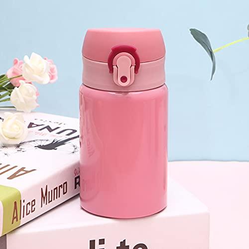 Mosako - Botella de agua de acero inoxidable para agua caliente sin BPA, 300 ml, apta para la escuela de deporte al aire libre (rosa)