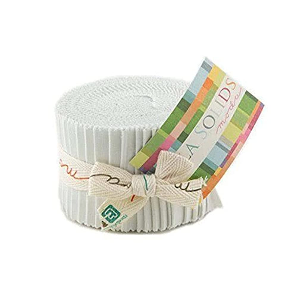 Bella Solids Feather Jr Jelly Roll (9900JJR 127) by Moda House Designer for Moda