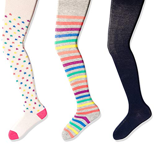 Spotted Zebra 3-Pack Cotton tights, Multi-stars, Small (4-6X), 3er