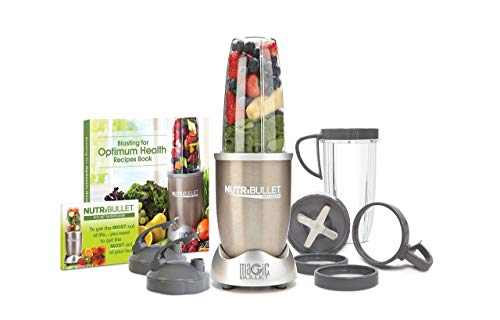 NutriBullet Pro - 13-Piece High-Speed Blender/Mixer System with Hardcover Recipe Book Included (900 Watts) (Renewed)