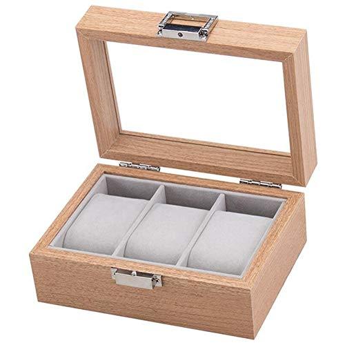 Fransande Caja organizadora de madera para relojes y relojes, caja de almacenamiento, caja de joyería, el mejor regalo