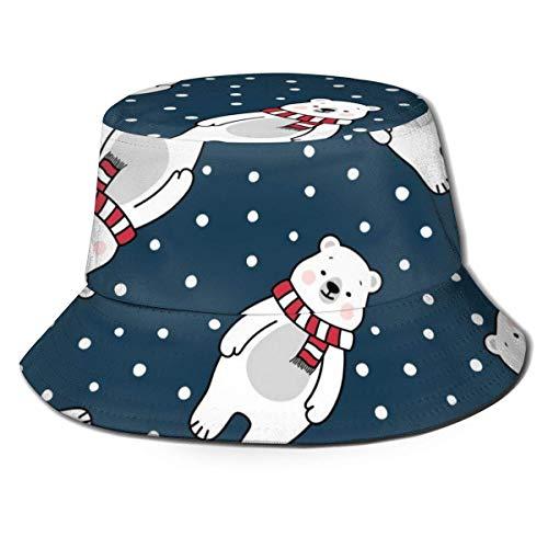 Shichangwei Gorro unisex con diseño de oso polar de Navidad, color negro