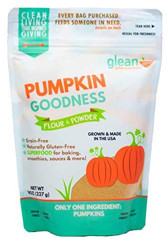 Glean Pumpkin Goodness | Gluten Free Pumpkin Flour and Powder | Paleo, Vegan, Low Carb, Low Sugar | Great for baking breads, pumpkin muffins, and cookies | 8 oz