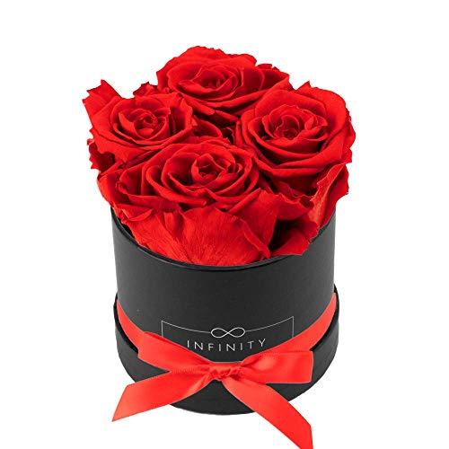Infinity Flowerbox Small Box Schwarz, Vibrant Red Geschenkartikel