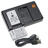 DSTE 2PCS EN-EL24(1050mAh/7.2V) Batería Cargador Compatible para Nikon 1 J5