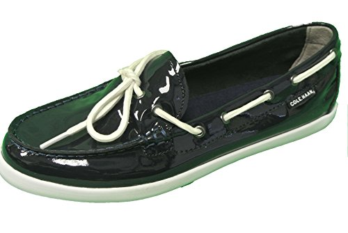 Cole Haan Women's Nantucket Camp Moccasins Navy Blue Patent Size 8.5 M US