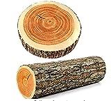 Flybloom Natural Wood Design Tree Trunk Log Cushion Soft Chair Cushion Pillows Gift Home Sofa Cushion (style1)