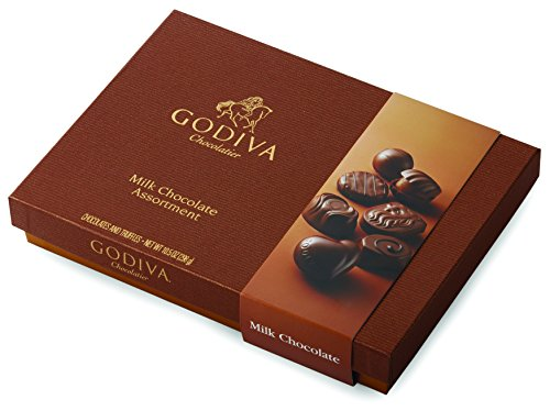 Godiva Chocolatier Assorted Milk Chocolate Truffles Gift Box, 22-Pieces, 10.5 Ounce