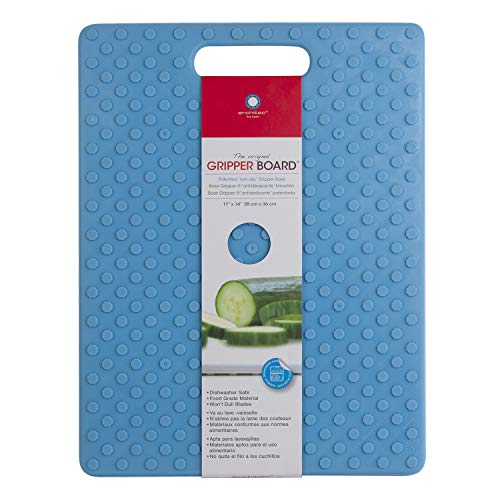 Architec Original Non-Slip Gripper Cutting Board, 11' x 14', Turquoise