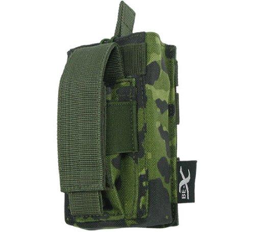 BE-X Kombi-Magazintasche für CQB, MOLLE, für je 1 G36 u. Pistolen Magazin - dänisch tarn