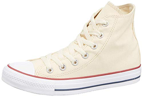 Converse Chuck Taylor All Star Hi Top, Zapatillas Mujer, Beige (Unbleached White), 42 EU