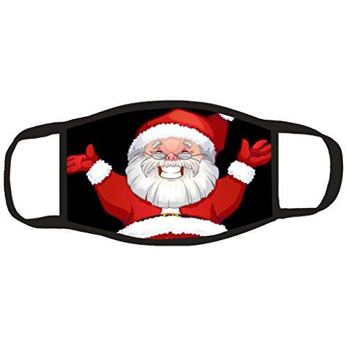 Boomli Face Bandana Washable UK with Christmas Tree Santa Claus 3D Print Pattern,Fashion Bandana Balaclavas Christmas Decorations Christmas Gifts Sale Clearance Christmas