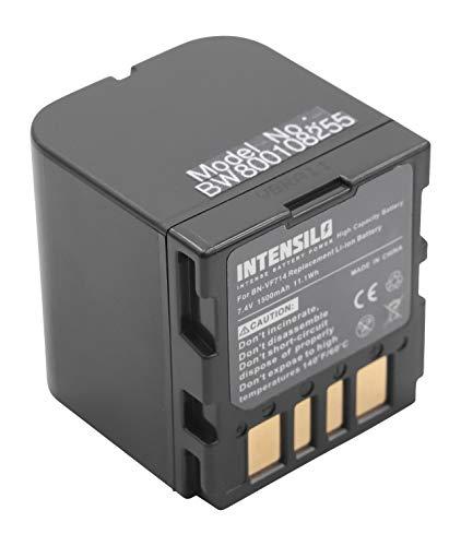 INTENSILO batería Li-Ion 1500mAh (7.4V) para cámara de vídeo, videocámara JVC GR-D239, GR-D240, GR-D240E, GR-D240EG como BN-VF707, BN-VF714, BN-VF733.