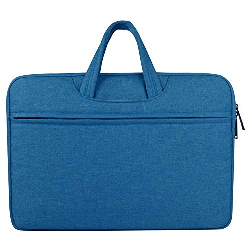 Breathable Wear-resistant Shoulder Handheld Zipper Laptop Bag, For 12 inch and Below Macbook, Samsung, Lenovo, Sony, DELL Alienware, CHUWI, ASUS, HP(Black) luoshan (Color : Blue)