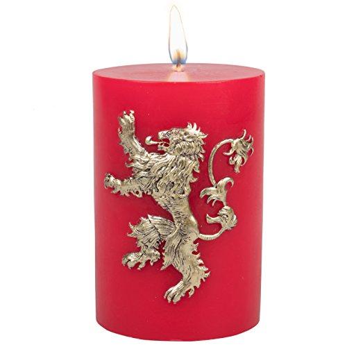Game of Thrones Große Kerze Haus Lannister Insignia geschnitzt 8,5 Kerze Säule mit 80 Stunden ge Multi Brenndauer Geschenk ideal für bekam Fan