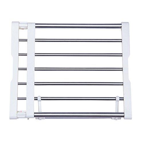 Baoyouni - Estante extensible, organizador, separador para armario de metal resistente, Material:...