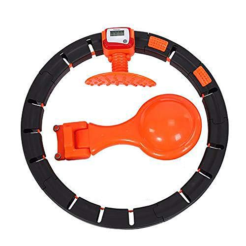 Weighted Hoop für Erwachsene Kinder mit LED Smart Counter, abnehmbarem Weighted Hoop 2 in 1 Weight Loss und Massage-Trainingsgeräten für drinnen und draußen