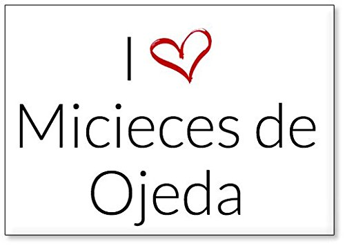 Mundus Souvenirs - Amo Micieces de Ojeda, Imán para Nevera (diseño 3)