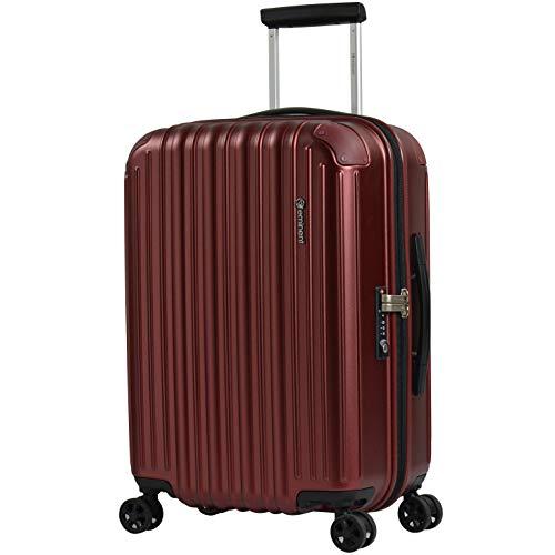 Eminent Koffer Move Air NEO S 58 cm 50 L großes Volumen Extra Kantenschutz 4 Doppelrollen 360° TSA Schloss Handgepäckkoffer Rot