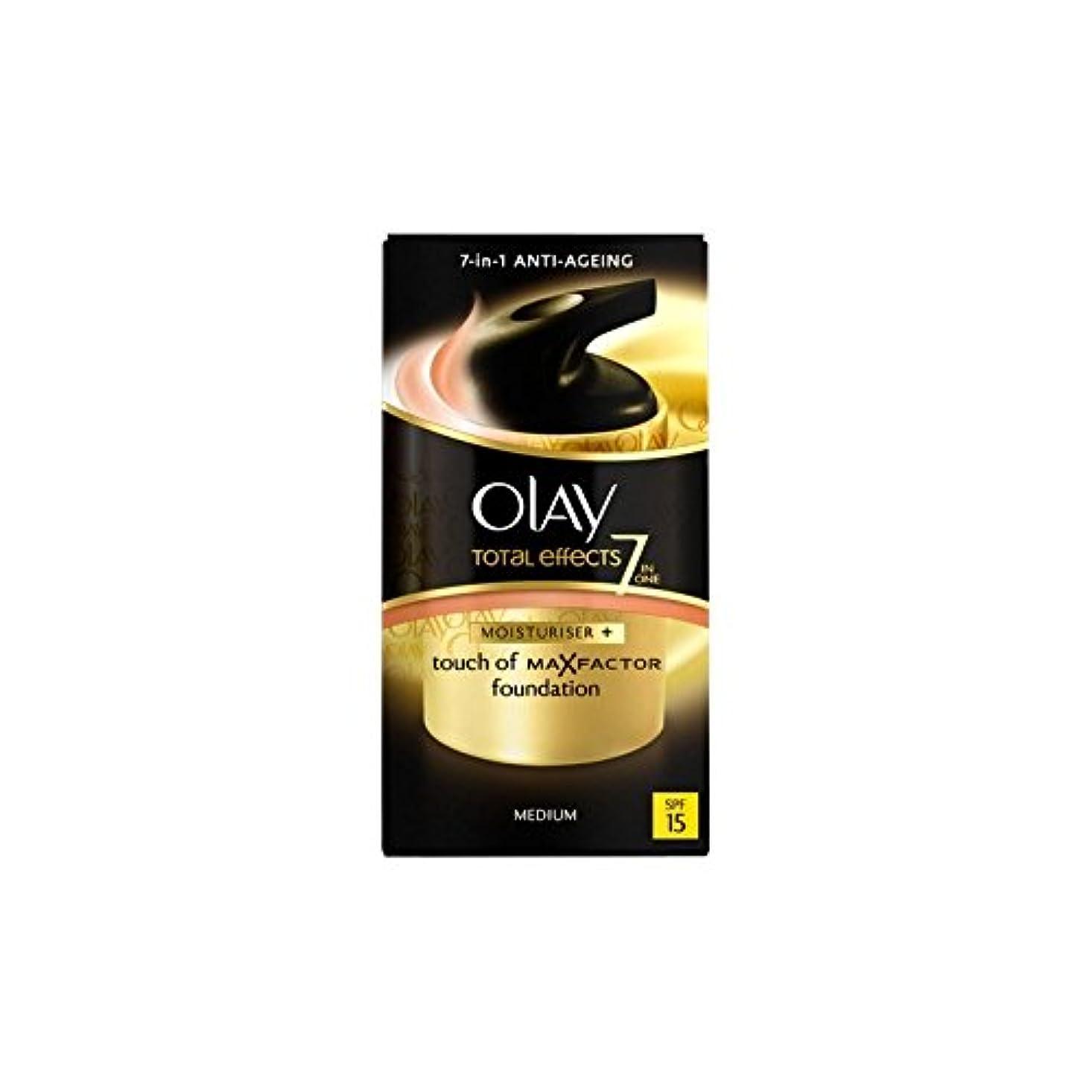 空中十分アンテナオーレイトータルエフェクト保湿クリーム15 - 培地(50ミリリットル) x2 - Olay Total Effects Moisturiser Bb Cream Spf15 - Medium (50ml) (Pack of 2) [並行輸入品]