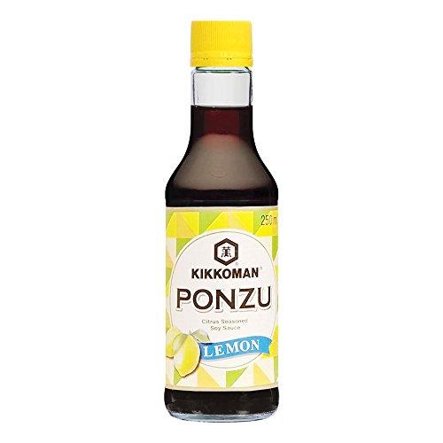 KIKKOMAN Sojasauce Ponzu mit Citrus - 250ml / 0,25 Liter – Glasflasche – Ponzu-Sauce