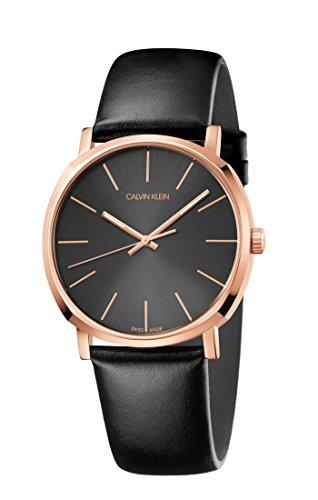 Calvin Klein Herren Analog Quarz Uhr mit Leder Armband K8Q316C3