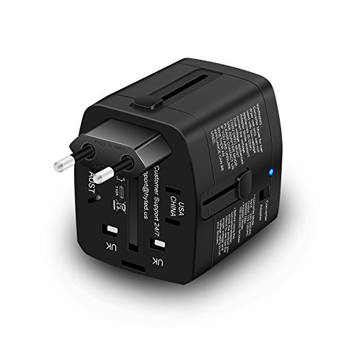Travel Adapter and 2000 Watts Step Down Converter 220v to 110v for...
