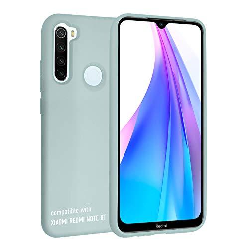 smartect Cover in Silicone per Xiaomi Redmi Note 8T - Aderenza Perfetta - Superficie Morbida Antiscivolo - Linee Interne Morbide - Case Silicone Verde Acqua