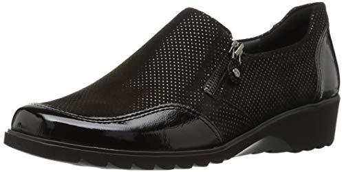 ARA Women's Athena Loafer, Black Puntikid, 7 Wide UK (9.5 US)