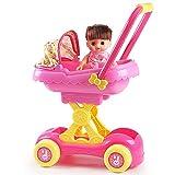 Yulihaoo Cochecitos para niños, cochecitos de muñeca, carritos de compras, juguetes para bebés para bebés, regalos de cumpleaños con muñeca juntos, juego de nido de gato (no incluye gato)